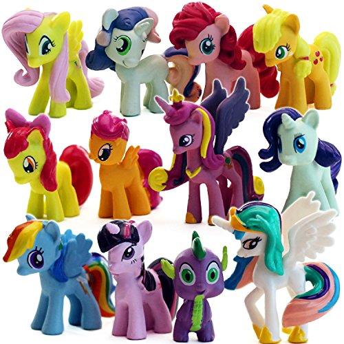 甜蜜城堡 动漫模型 云宝月亮公主我的彩虹小马宝莉公仔玩偶 全套12款图片