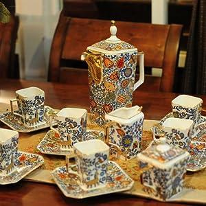 墨菲家居 爱马仕 欧式宫廷茶具套装 高档时尚奢华咖啡