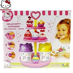 hello kitty 迷你蛋糕坊橡皮泥可爱彩泥套装创意趣味玩具 粉色 hkp005
