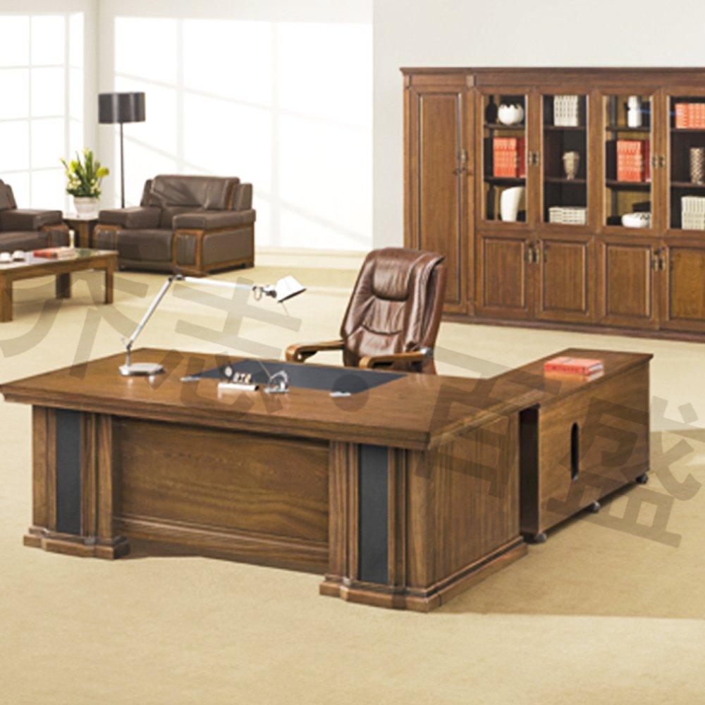 【乔志】实木中班台时尚简约老板桌办公桌电脑桌子1