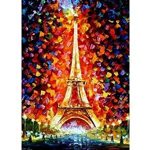 法国埃菲尔铁塔油画