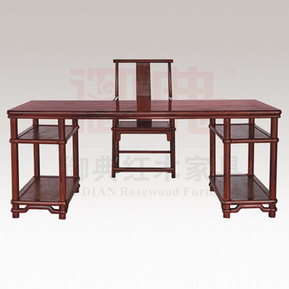 小叶紫檀,越南黄花梨)  红木办公桌尺寸:198m*78cm*82cm (长*宽*高)