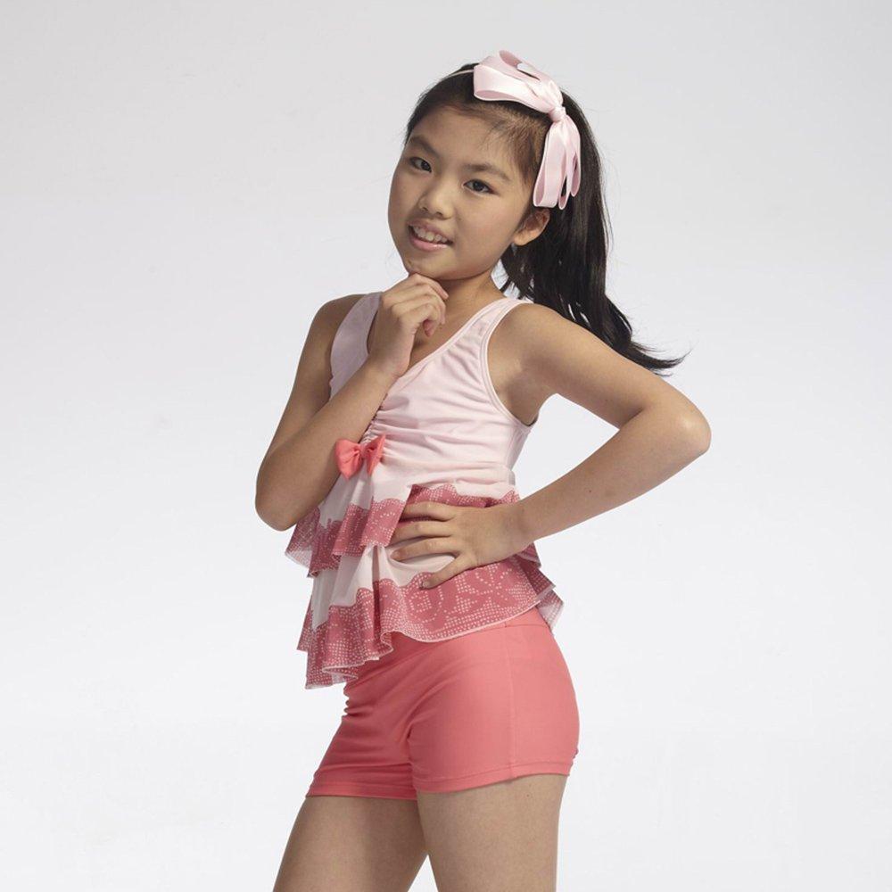 可爱女童游泳衣 韩国分体平角中大童