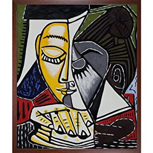overstockart picasso tete d'une femme lisant with