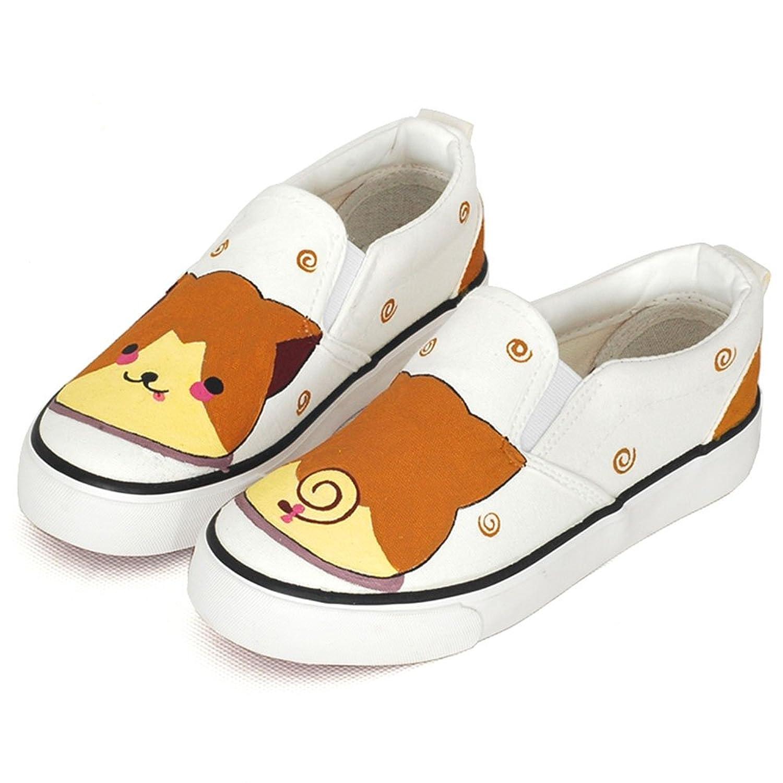 卜丁 春童鞋儿童帆布鞋可爱手绘鞋宝宝鞋一脚蹬低帮无带套脚小动物