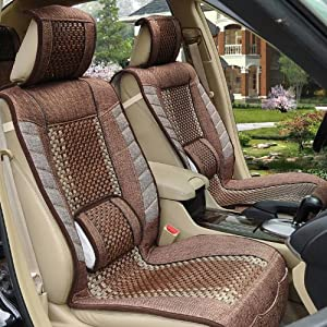 峰雅莱 凯迪拉克CTS SRX SLS赛威亚麻塑藤汽车座垫 夏季坐垫凉垫四高清图片