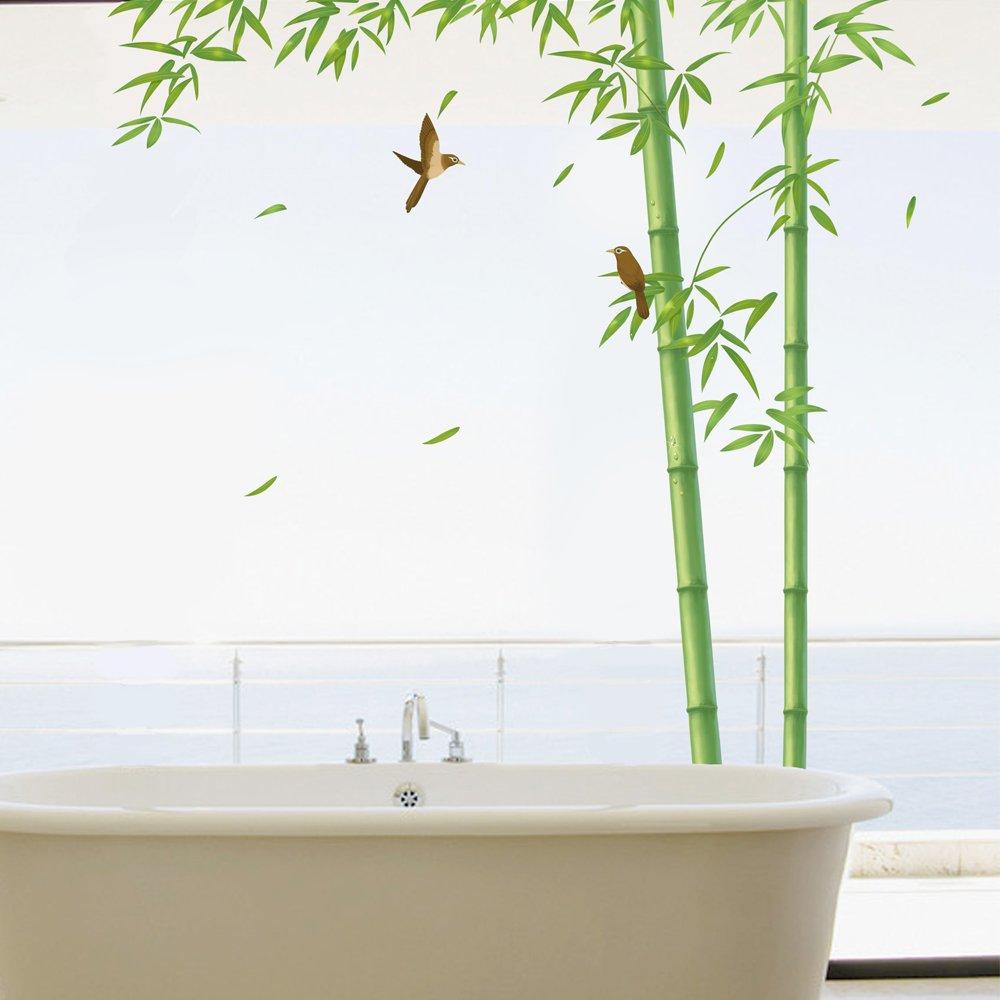 飞彩可移除竹子墙贴 客厅电视墙墙面装饰背景树墙壁贴
