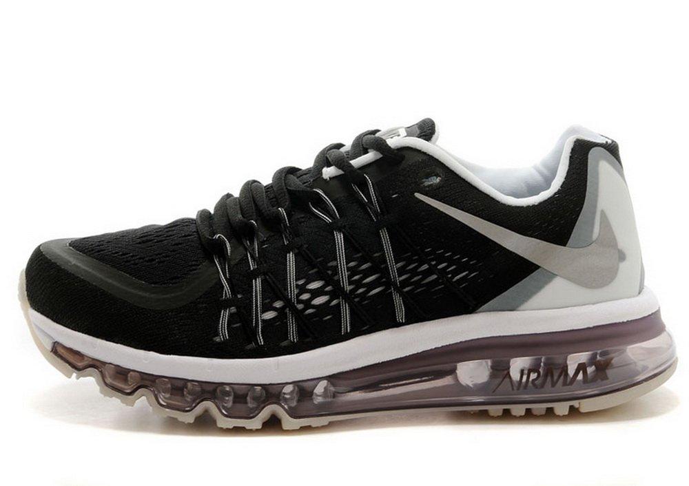 耐克黑白气垫跑鞋