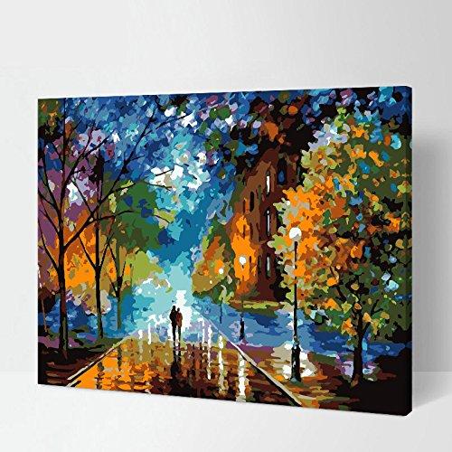 佳彩天颜 diy数字油画 客厅风景花卉 动漫人物 大幅手绘装饰画 背景墙