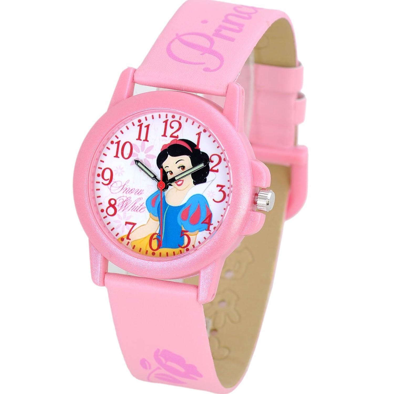 disney 迪士尼儿童手表 可爱粉色白雪公主夜光小女孩学生手表 皮带