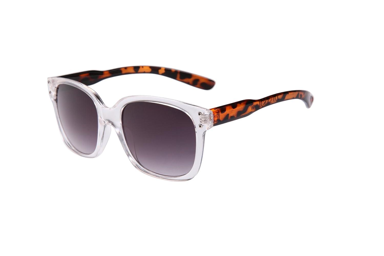 欧美复古豹纹透明框水晶眼镜