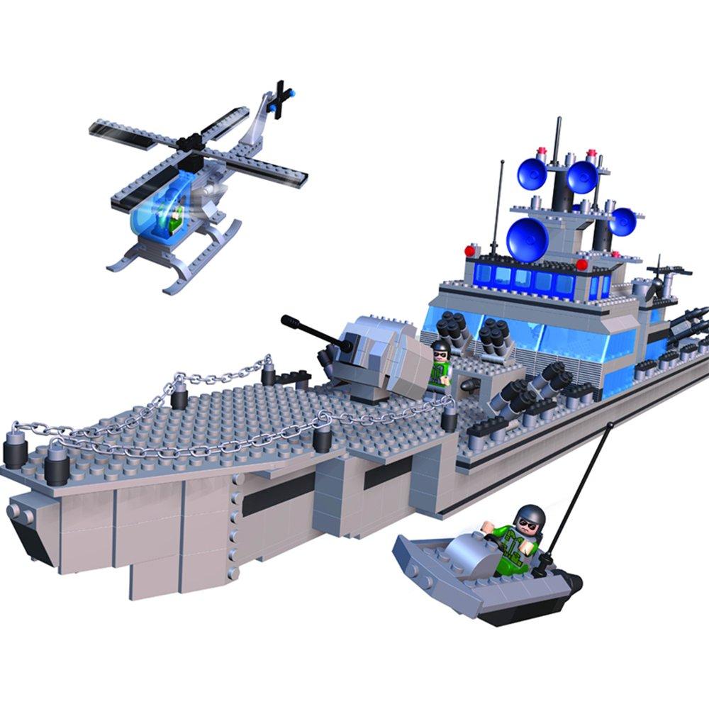 积高 儿童益智力玩具塑料拼插拼装积木玩具海战