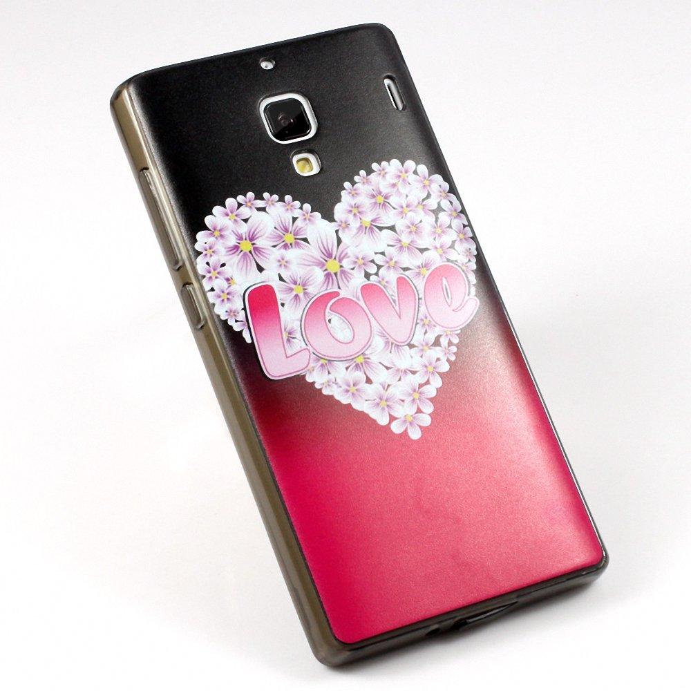 西马龙 防摔纤薄彩绘手机壳保护套外壳 适用于小米红米/红米1s love之