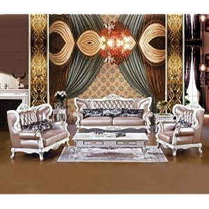 新古典皮艺u型沙发