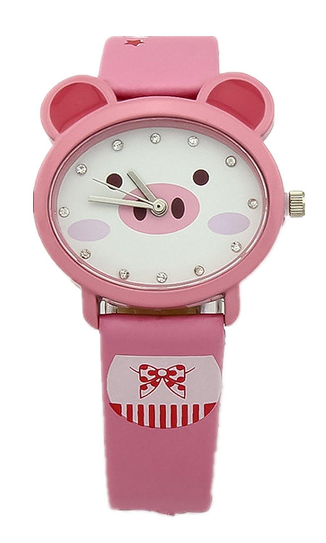 kezzi 珂紫 儿童手表 时尚可爱男孩女孩皮带石英防水小学生卡通腕表