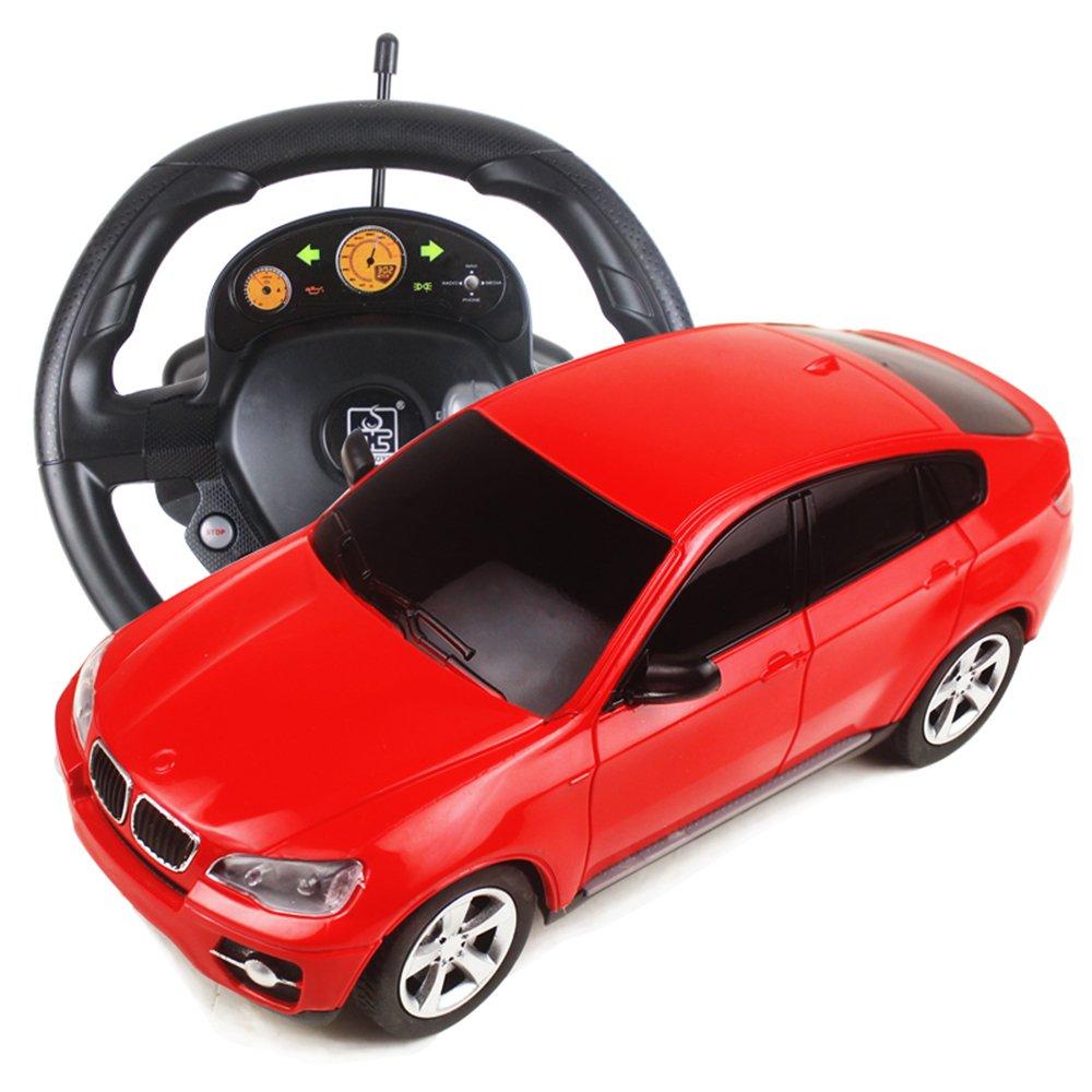 迪多乐 宝马陆虎玩具车 重力感应方向盘遥控车 音效刹车自动档遥控车