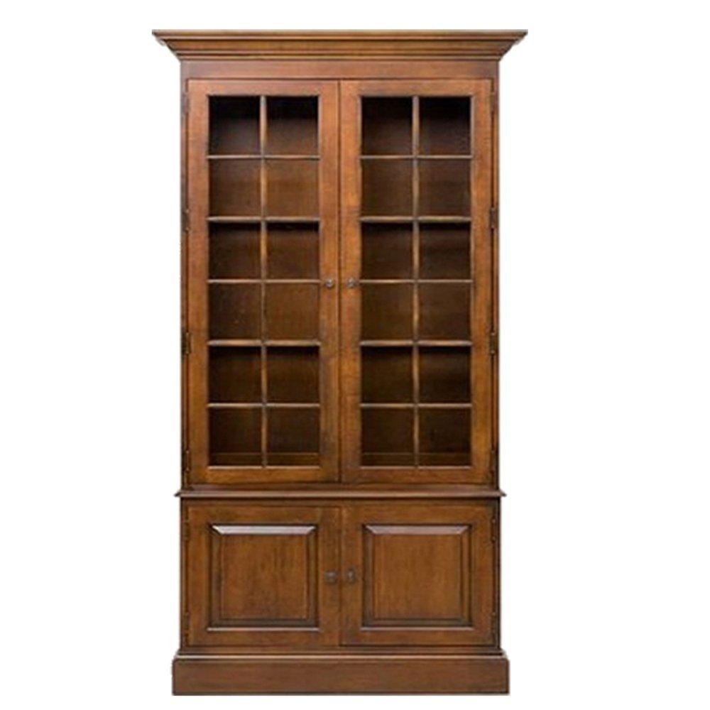田园宜家书房客厅实木展示柜书架