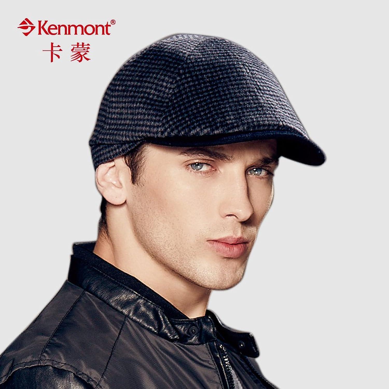 kenmont军贝雷帽复古帽子男 英伦毛呢帽秋冬男士休闲帽子鸭舌帽潮km
