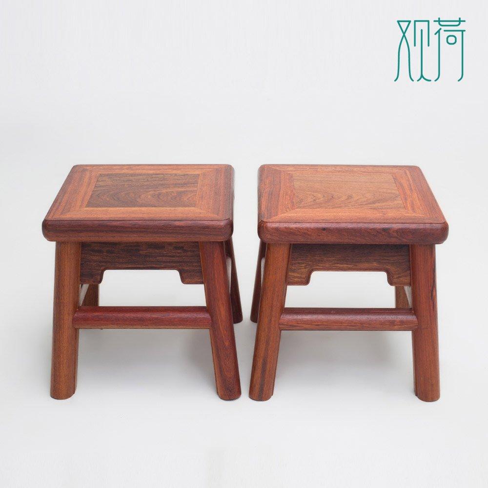 观荷【富贵凳】中国明式家具经典之作 无束腰直足直枨小方凳【王世襄