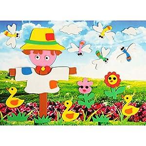 儿童手工制作eva贴画 益智拼图 立体diy美劳材料 ef01353 3d贴画稻草