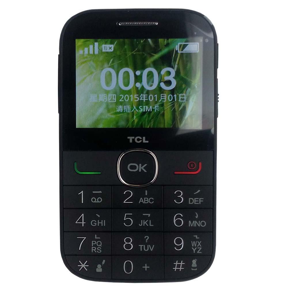 TCL f210 老人手机 GSM制式 2.4英寸彩屏 智能语音播报 大字体大按键大音量 五维导航键 LED背光灯 (暗夜黑): 手机/通讯