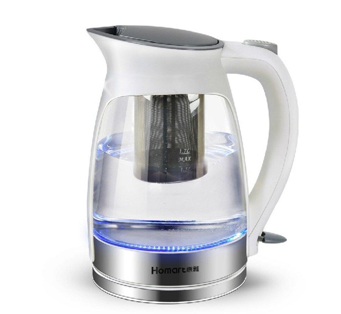 康雅 小家电 s系列 蓝光玻璃电热水壶 烧水壶电水壶 温控 白色,以换代图片