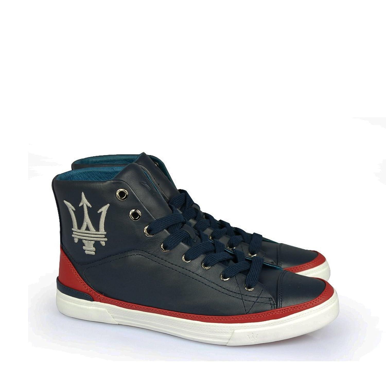 玛莎拉蒂maserati-意大利牛皮-商务板鞋-真皮休闲鞋(高梆)802 (43)