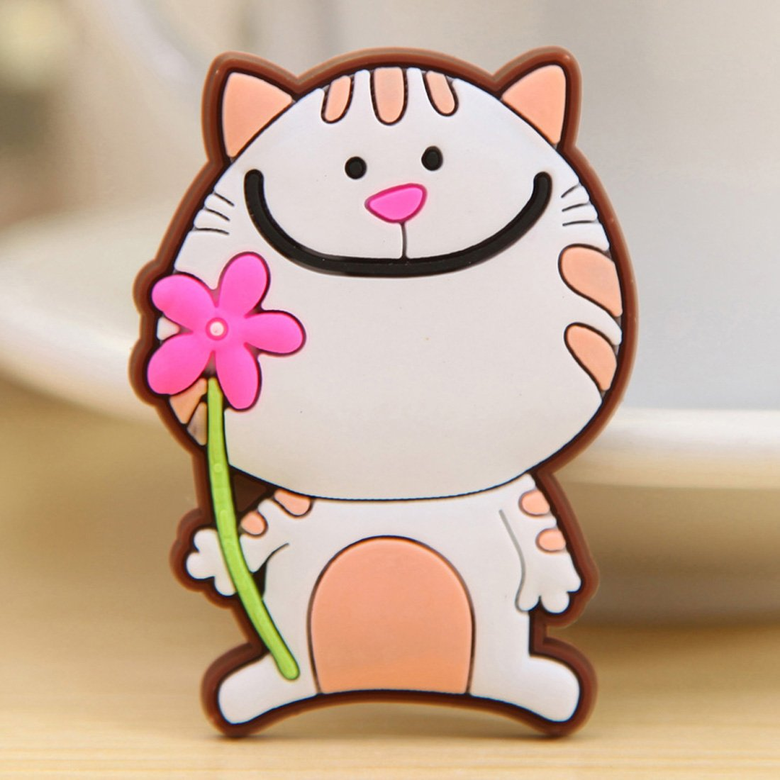 沐和创意可爱动物硅胶冰箱贴磁贴 (4, 龙猫)