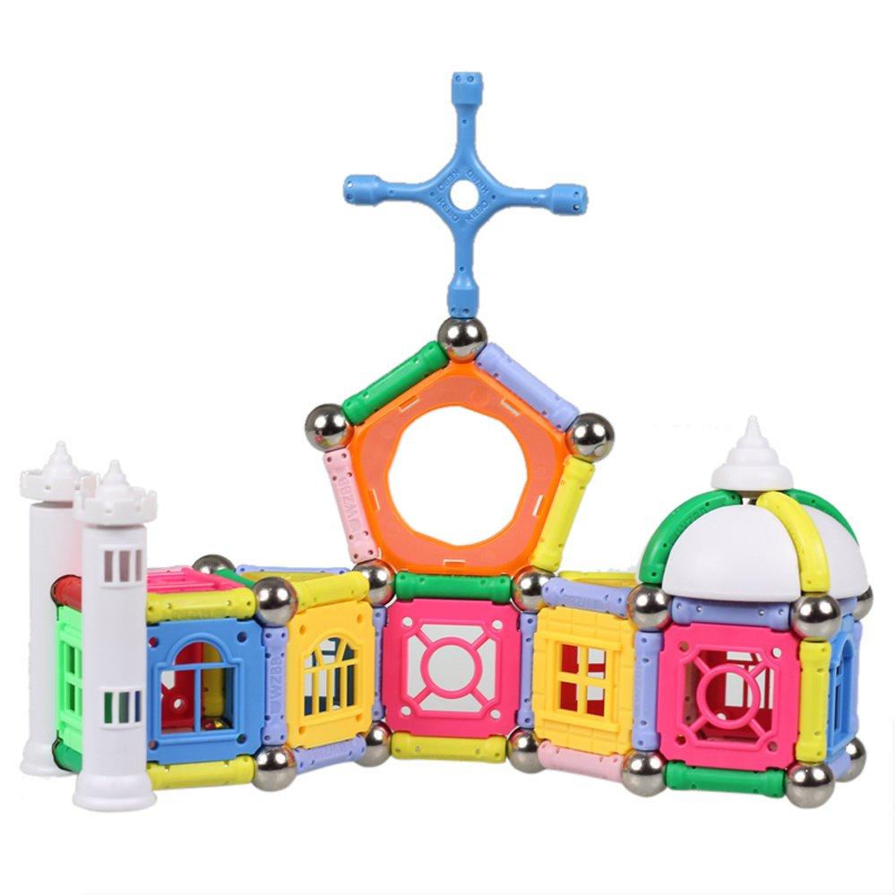 丸子宝贝 磁力棒儿童玩具3-4-5-6-7岁宝宝益智玩具启蒙早教积木 168
