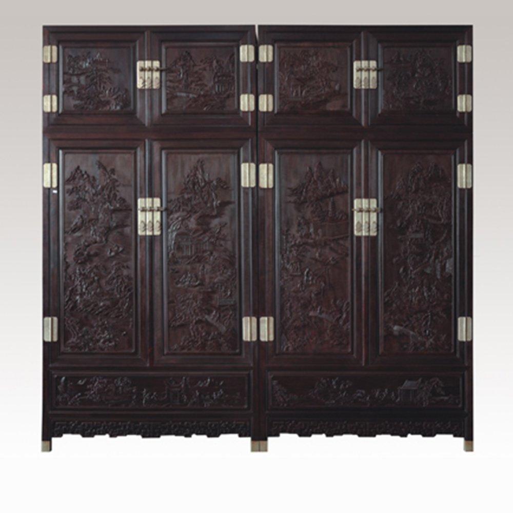 仙游御典红木家具 清式家具 顶箱柜 红木顶箱柜 大叶紫檀顶箱柜衣柜