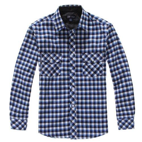KIZ 开兹 男长袖衬衫 秋冬装 男士英伦商务保暖休闲 长袖衬衫XB2509