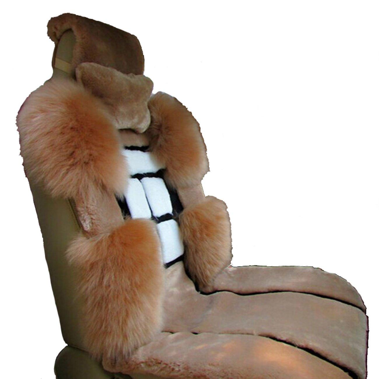 新款汽车坐垫 澳洲进口羊毛座垫 五座车通用坐垫 汽车垫羊绒坐垫 可爱