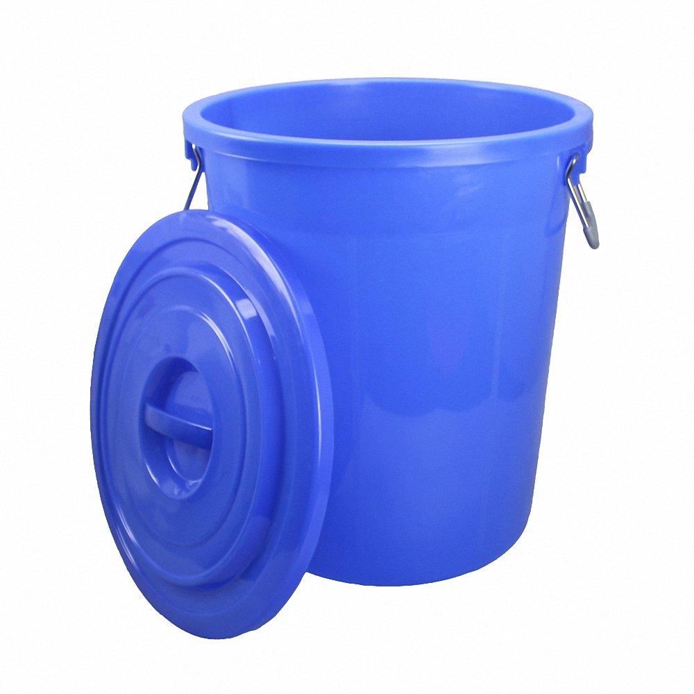 圆形加厚塑料垃圾桶 圆形大水桶带盖