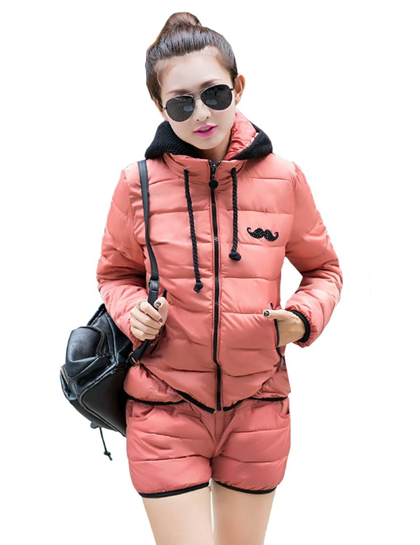 muyan 慕妍 2014新款韩版冬装女装棉衣套装短款棉服棉裤两件套运动服