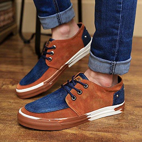 男帆布鞋韩版潮男士休闲布鞋简约牛仔鞋潮鞋