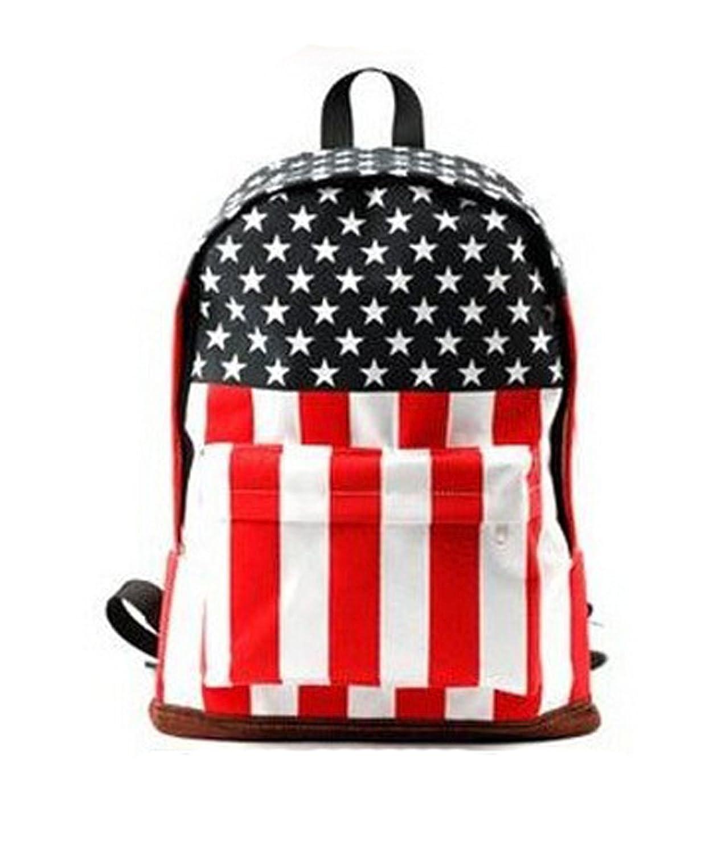莎玛特 新款韩版女包 复古国旗双肩包 旅游包学生书包 美国国旗