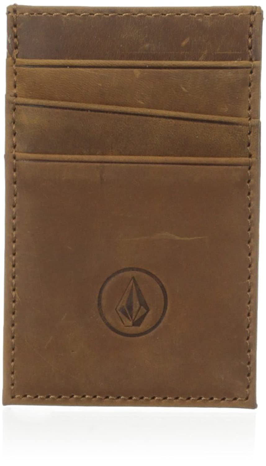 volcom men's carded wallet 棕色 one size/small