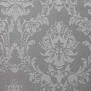 腾声荷影 pvc壁纸墙纸 欧式大马士革花型 卧室满铺 31833