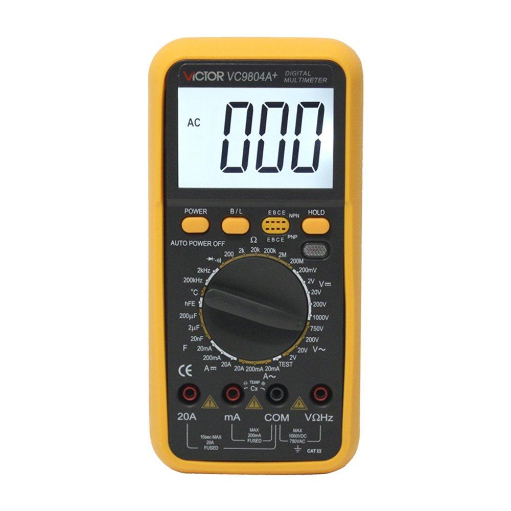 victor 胜利 vc9804a  数字万用表 可测温度 频率 电容 有背光