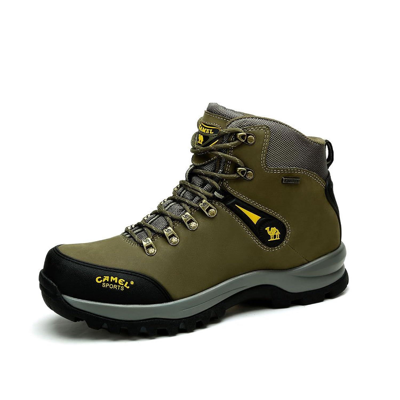 Camel 骆驼户外登山鞋 牛皮耐磨系带户外登山鞋 2014秋冬新款A442026285