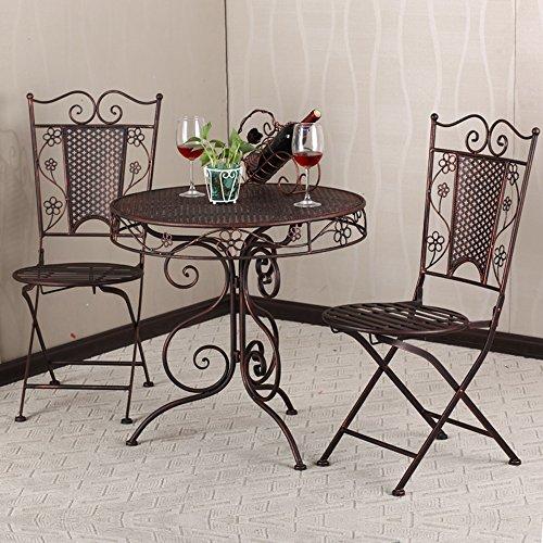 goomer 果漫 果漫欧式铁艺咖啡桌椅阳台桌椅户外庭院休闲桌椅套装