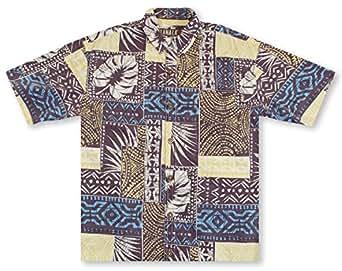 kahala 男士 paia short-sleeve woven shirt 椰子色