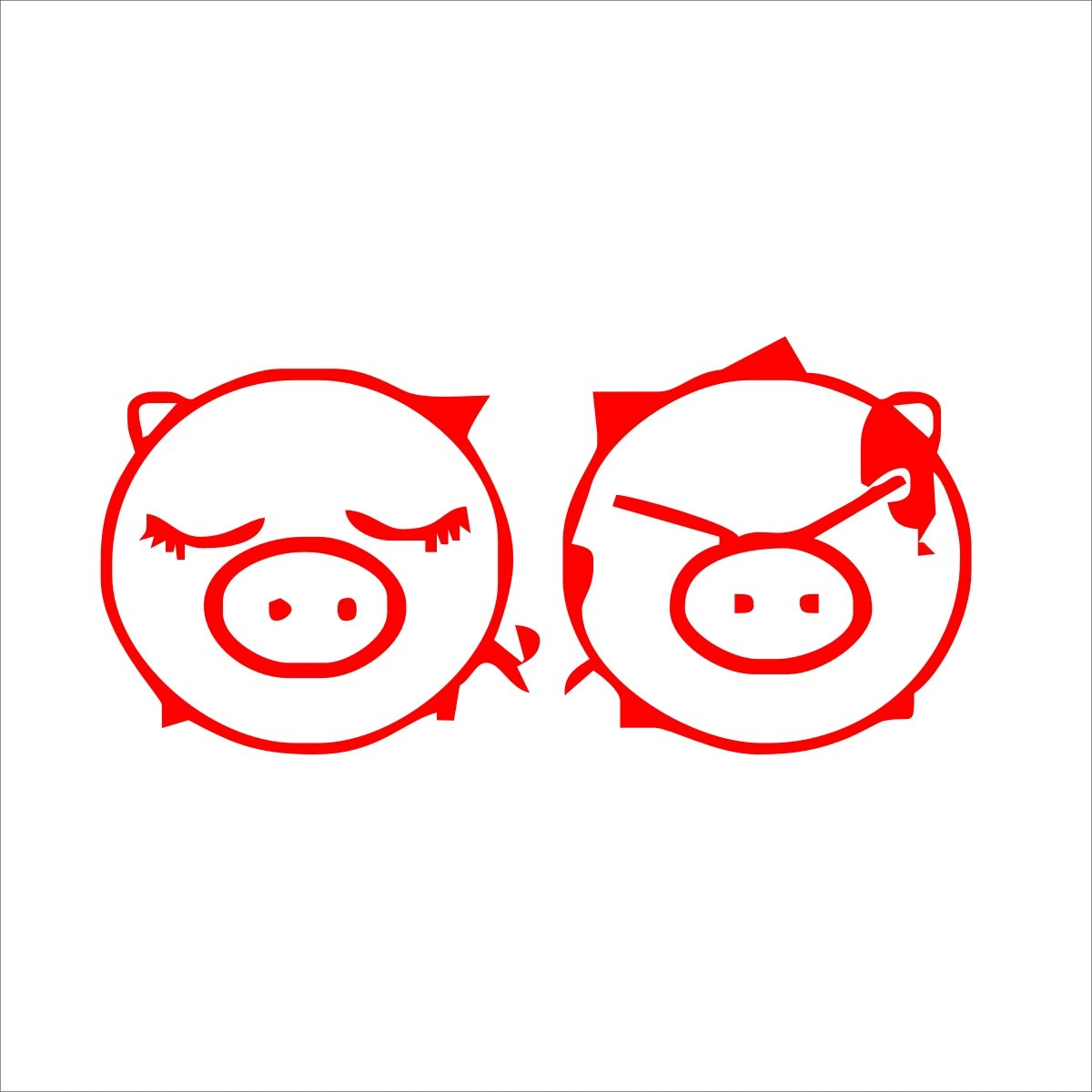 sk 深卡 个性车尾卡通小贴车身贴纸 系列58款 红色 20