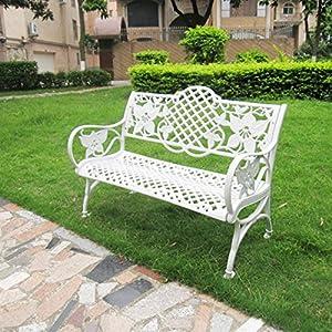 【京好】公园长椅子休息椅b68 (白色铝制)