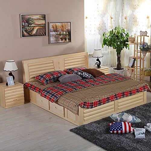 5米单人成人床 北欧简约田园风格 中式卧室床 储物高箱床 .