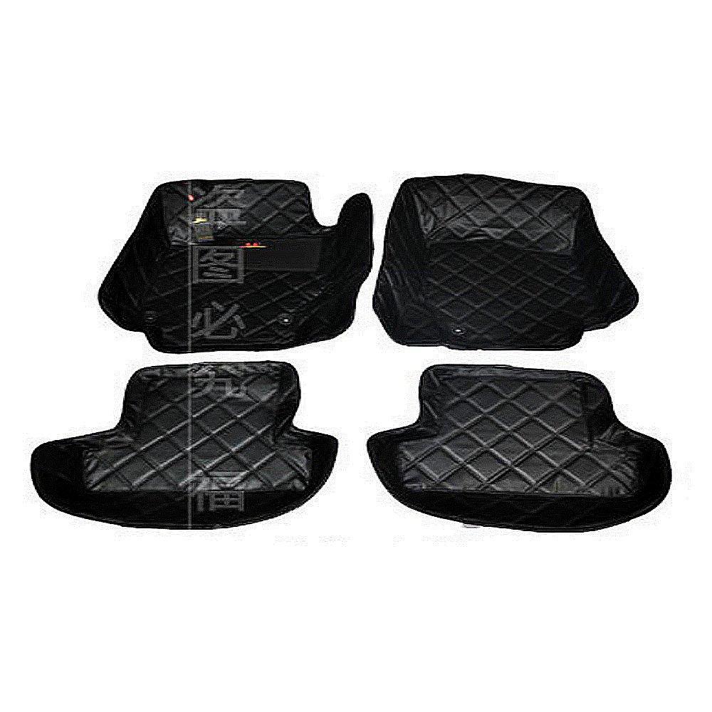 专为奥迪tt 四雇设计 黑色 高档皮革大包围脚垫 超纤耐磨皮 汽车脚垫