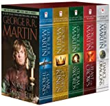 Book Cover for George R. R. Martin's A Game of Thrones 5-Book Boxed Set (Song of Ice and Fire series): A Game of Thrones, A Clash of Kings, A Storm of Swords, A Feast for Crows, and A Dance with Dragons