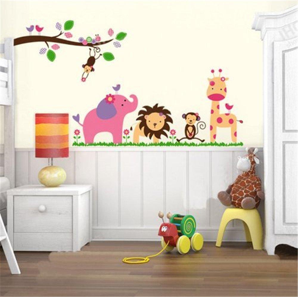 动物乐园 儿童沙发幼儿园背景墙贴画