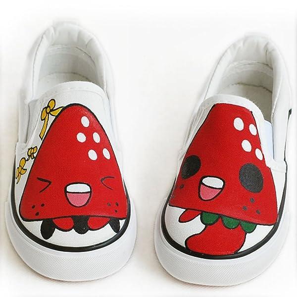 儿童牛筋底帆布鞋 涂鸦鞋童鞋 可爱娃娃鞋 无带套脚款懒人鞋卜丁 a
