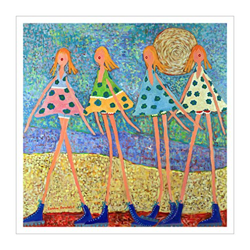 风格|人群|具象人物装饰画|儿童美术|人物装饰画|女孩|儿童|装饰画